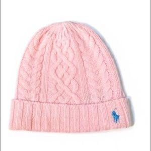 Ralph Lauren Toddler Pink Wool Stocking Knit Hat